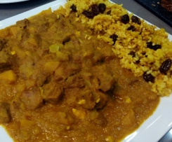 PAVO AL CURRY CON ARROZ