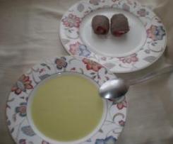 VICHYSSOISE LIGERA Y FILETES DE TERNERA RELLENOS (dos platos a la vez)