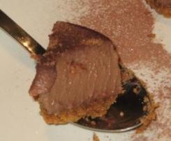 Tarta de cuajada con chocolate de naranja