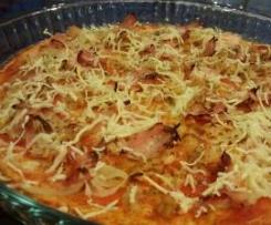 Pizza de salvados (Dukan, PP)