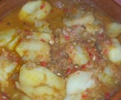 Patatas con salsa de soja
