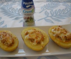 Patatas rellenas a la crema boloñesa