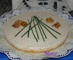Tarta de queso y cebollino con agar-agar