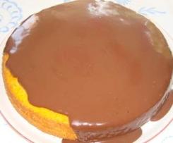 Bizcocho de zanahoria y chocolate