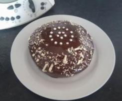 Bizcocho integral de chocolate y cerezas al vapor