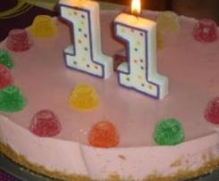 tarta de fresa con gominolas