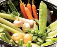 Verbena de verduras con vinagreta